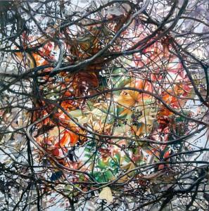Kudret Türküm - Asma Yaprakları, TUYB, 90x90 cm, 2014