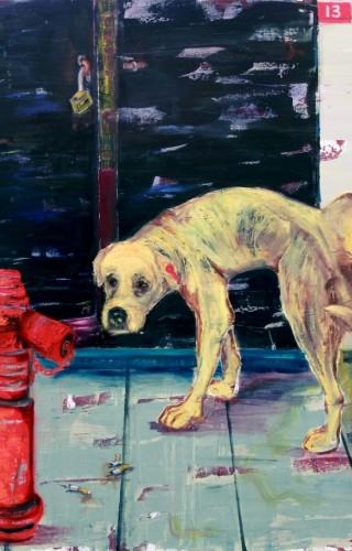 Joel Menemşe - Şans işte, Tuval üzerine yağlıboya, 116x140 cm, 2015