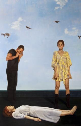 Sinem Kaya, Bir Aşk Cinayeti, TUYB, 250x180 cm, 2011