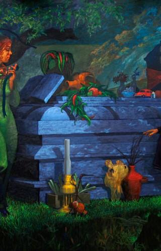 Gece, Ziyaret - 150x180 cm