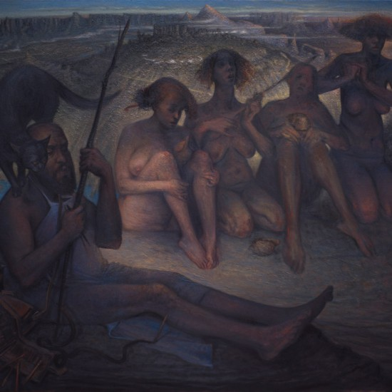 Kader Genç - Dağların Kadınları, Denizi Çağırır, TÜYB, 130x189 cm, 2014