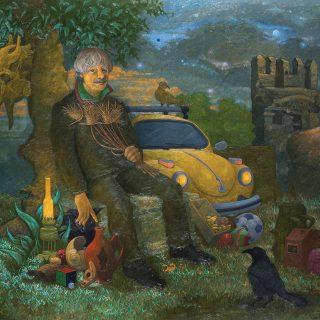 Hüsnü Koldaş - Misafirim Bugün Ben, Tuval üzerine yağlıboya, 180x150 cm