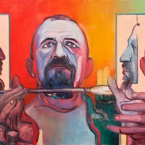 Kemal İskender - Üçlü Otoportre, TUYB, 50x210 cm, 2012