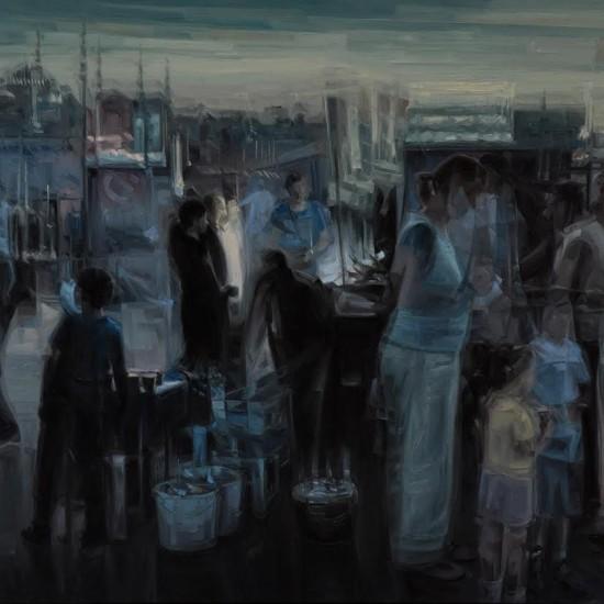 Mustafa Albayrak - Eminönü'nde Akşam Üstü, TUYB, 100x185 cm, 2011