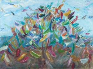Ahmet Merey, Flags on the Summit - 150x70cm TUYB 2011