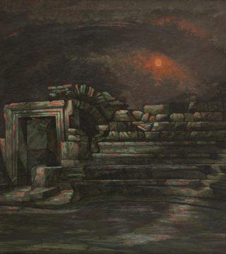 Hüsnü Koldaş - Iasos Buleterion - Tuval üzerine yağlıboya, 100x160 cm