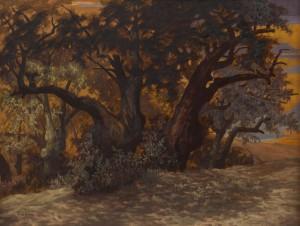 Hüsnü Koldaş - Iasos, Zeytin Ağaçları, TUYB, 90x116 cm