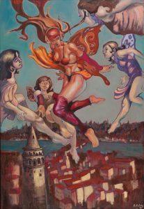 Hakan Kalay - Galatalı Kızlar Balosu, TUYB, 130x90 cm, 2016