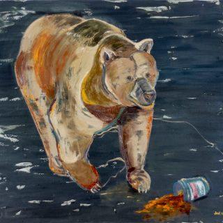 Joel Menemşe - Ürkek, TUYB, 150x160 cm, 2017