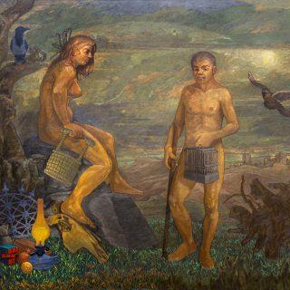 Hüsnü Koldaş - Adem ve Havva (Gece Kuşu), TUYB, 200x160 cm