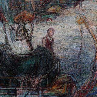 Hayri Ağan - Tekne 35x35cm. Tuval Üzerine Yağlıboya 2014