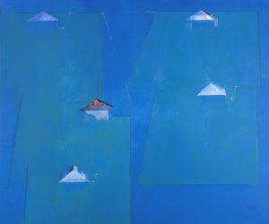 Veysel Günay - Rengin Doğası V, Tuval üzerine yağlıboya, 200x240cm, 2010