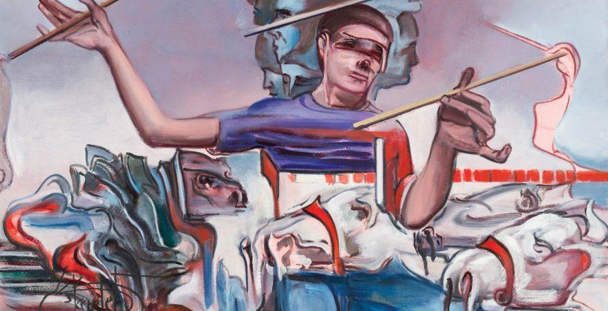Kemal İskender - Tek Kişilik Gösteri, Kağıt üzerine yağlıboya, 56x76cm, 2016