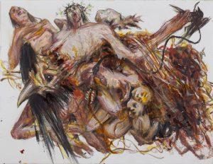 Kader Genç - Desen, Kağıt üzerine karışık teknik, 24,5x18,8 cm 2017