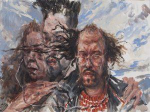Kader Genç - Eksilmiş Aile Portresi, Kağıt üzerine Akrilik, 36x48cm, 2018