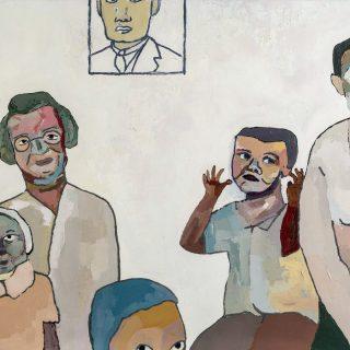 Aslı Arslanbek-Evci, Aile arasında 1, 2017, 150x100, Tuval üzerine yağlıboya
