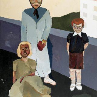 Aslı Arslanbek-Evci, Aile arasında 2, 2019, 200x150, tuval üzerine yağlıboya