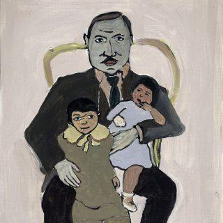 Aslı Arslanbek-Evci, Baba, 2016, 26x23, kağıt üzerine yağlıboya