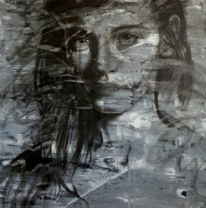 Gülveli Kaya Tuval üzerine akrilik, 90x110 cm, 2017