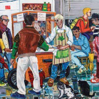 Resul Aytemür - Balo Sokak Pilavcısı 150x250cm, 2012
