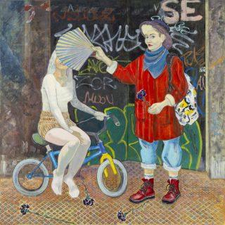 Gizem Enuysal - Gösteri Tuval üzerine yağlı boya, 170x170 cm, 2021